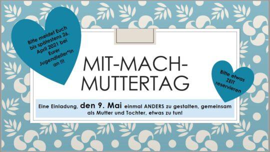 Mit-Mach-Muttertag am 9. Mai